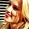 smiling.