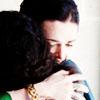 islandserenade: Gwen/Morgana hug