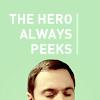 hero always peeks