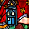 tardis church window