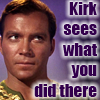 Sky: [star trek tos] kirk sees what you did t