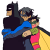 Batman and Nightwing and Robin LOL
