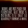 Books and furniture