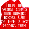 burning books