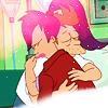 Cinna: futurama: fry/leela hug