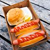 Hotdog & burger