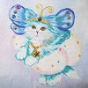 Glitterstar tag nine - blue cloud drape