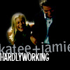 Katee and Jamie hardly working