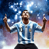 messi on the globe