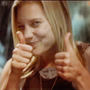 possibly Clare: sackhoff: katee says thumbs up!