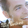 Are you watching?: Chris Pine - You are my sunshine <3