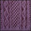 purple aran sweater