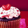cupcake, heart