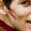 cheeky: merlin - glee face