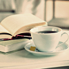 hot drink and books.