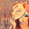 audrey kawasaki - cat Mask