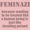 Jules (writing when she gets work): feminism
