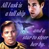 Duty & Devotion: star trek kirk tall ship and star