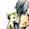Uri on Gokudera's shoulder