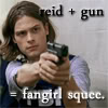 daylyn: CM Reid plus gun=fangirl_madlori