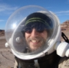 David D. Levine: space helmet