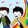 Gina Marie: dean cas rainbow