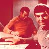 happy icon ST Kirk Spock laugh