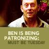 Liz;: Lost-Ben Patronizing