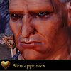 The sanest lunatic you've ever met: dragonage: sten approves!