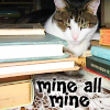 Cat and Books by sallymn