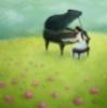 рояль на лугу