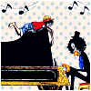 Piano with Luffy