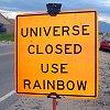 ★ horizon tall: [road signs] » universe closed