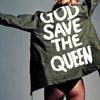 with a head full of foliage: god save the queen
