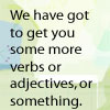 verbs or adjectives