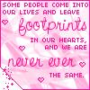 footprintes friend