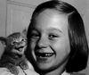 girl&kitten