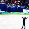 "Olympics 2008 ""Evan Lysacek on the ice"""