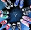 friendship, convers shoes