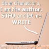 Dear characters: I'm the author