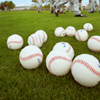 Baseball - balls on grass