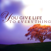 scripture- You give life to everything