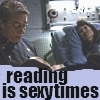 We don't need no hateration in this dancery: Adama/Roslin reading is sexy