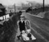 crimson_vita: Davidson girl with doll carriage