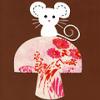 ☆: mouse on mushroom:)