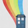 doctor who - rainbow tardis