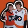 Matt and me in jerseys