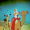 riding camel-back