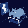 exercise hippo wanna be a unicorn