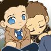 Jade: Dean/Cas cuddles (SPN)
